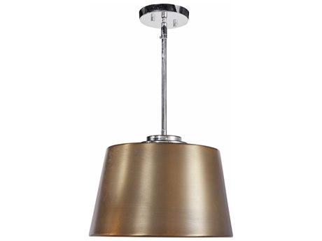 Bassett Mirror Chrome / Brass 14'' Wide Pendant BAL3596P