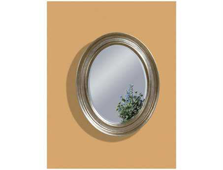Bassett Mirror Old World 33 x 41 Silver Leaf Bellagio Wall Mirror
