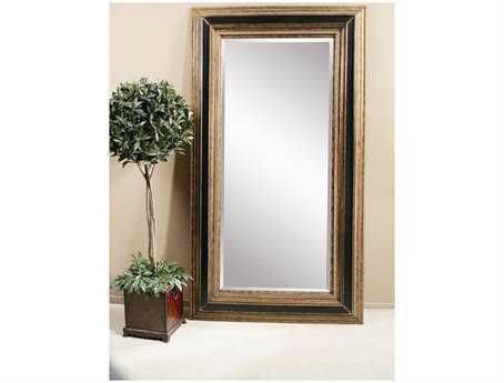 Bassett Mirror Old World 54 x 96 Antique Gold & Ebony Vallejo Leaner Mirror