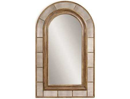 Bassett Mirror Old World 54 x 88 Rustic Bronze Clark Arched Leaner Mirror