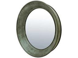 Bassett Mirror Belgian Modern 48 x 48 Green Zinc Wall Mirror