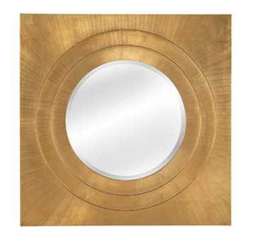 Bassett Mirror Thoroughly Modern 42 x 42 Gold Leaf Zane Wall Mirror