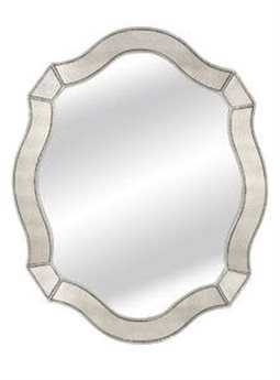 Bassett Mirror Hollywood Glam 40 x 50 Silver Leaf Zandra Wall Mirror