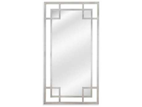 Bassett Mirror Hollywood Glam Amos 44'' x 80'' Silver Leaf Leaner Mirror