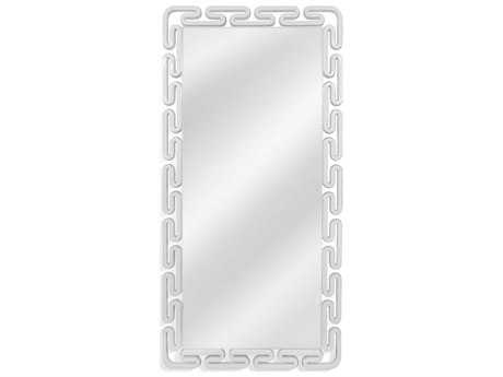 Bassett Mirror Thoroughly Modern Venezia 36'' x 72'' White Lacquer Leaner Mirror