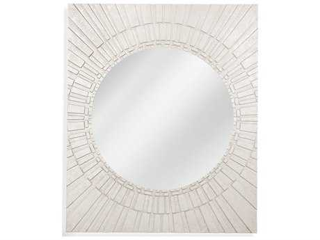 Bassett Mirror Thoroughly Modern Brasilia 40'' x 48'' Silver Leaf Wall Mirror