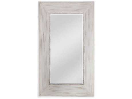 Bassett Mirror Belgian Luxe Darby 50'' x 83.75'' Distressed White Leaner Mirror