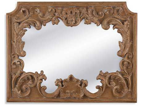 Bassett Mirror Old World Ghent 38'' x 48'' Weathered Wood Wall Mirror