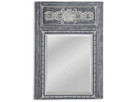 Bassett Mirror Belgian Luxe Chateau 34'' x 48'' Distressed Gray Wall Mirror