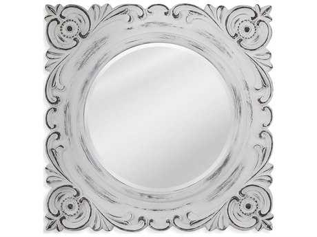 Bassett Mirror Pan Pacific Tulla 38'' Weathered White Wall Mirror