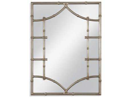 Bassett Mirror Pan Pacific Kew 36'' x 48'' Silver Leaf Wall Mirror