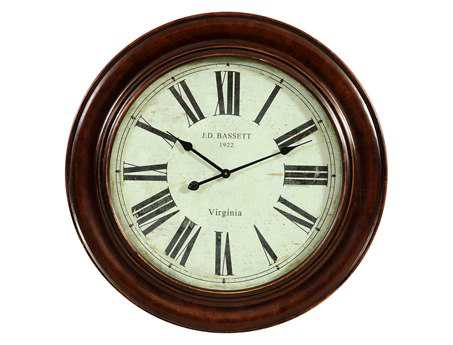 Bassett Mirror Old World Antique Bronze Brinkley Wall Clock
