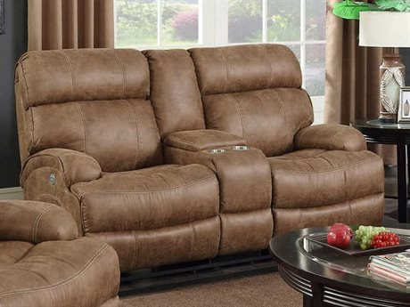 Barcalounger Casual Comfort Barclay Hughes Brown Power Reclining Loveseat