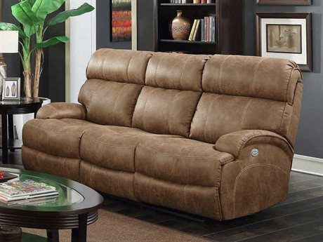 Barcalounger Casual Comfort Barclay Hughes Brown Power Reclining Sofa