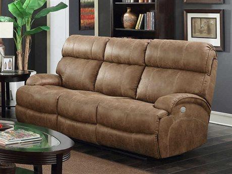 Barcalounger Casual Comfort Barclay Hughes Brown Power Reclining Sofa