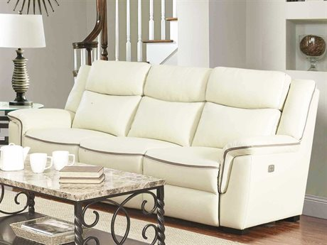 Barcalounger Casual Comfort Donnington Cashmere White Power Reclining Sofa