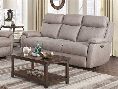 Barcalounger Casual Comfort Brockton Taupe Power Reclining Sofa