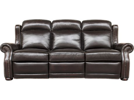 Barcalounger Vintage Washington Stetson Coffee Power Reclining Sofa