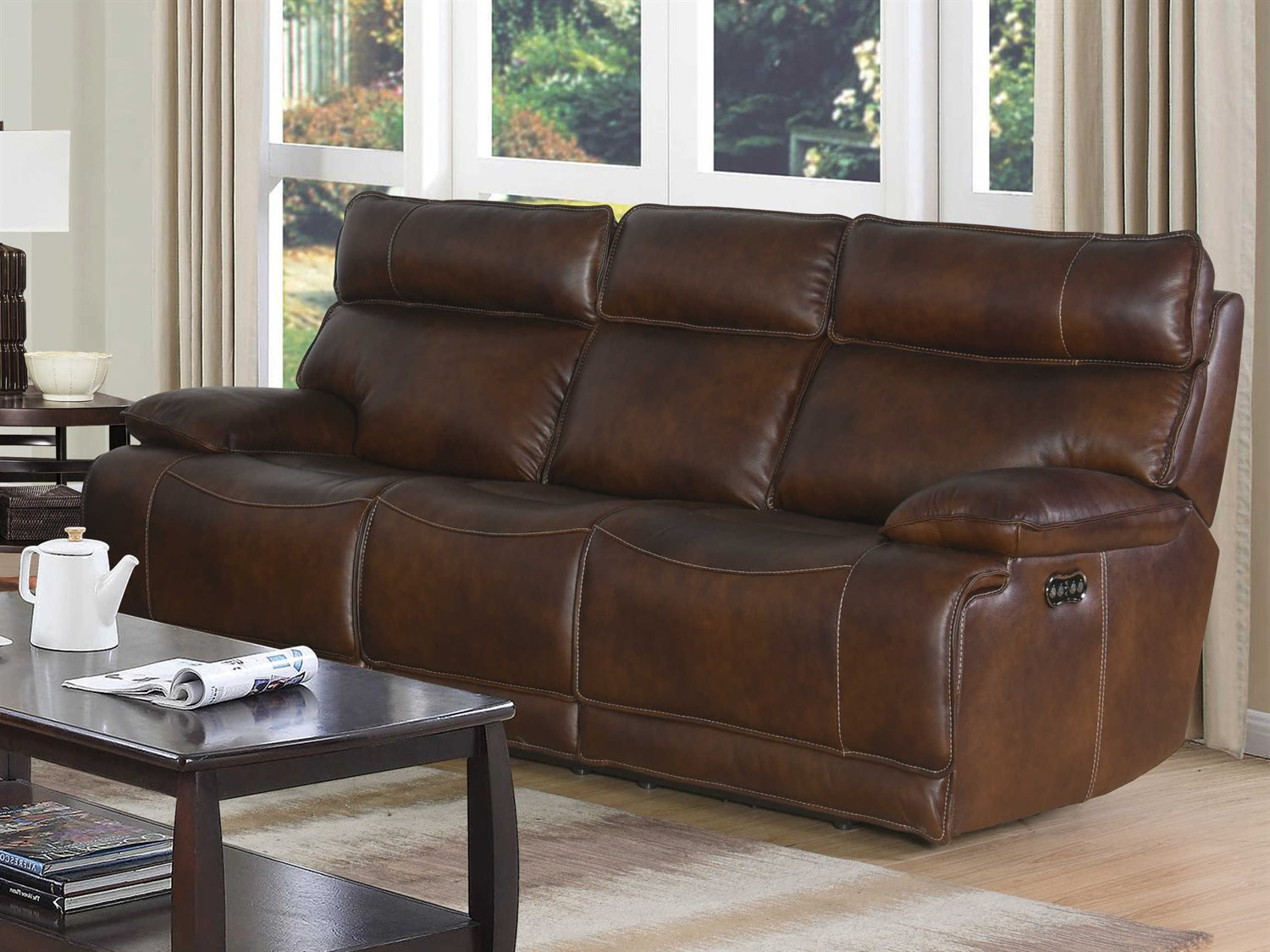 Barcalounger Casual Comfort Wesley Halifax Chocolate Power Reclining Sofa Bar39ph3265370486