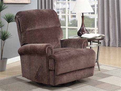 Barcalounger Basics Roslyn Brownstone Swivel Glider Recliner Chair