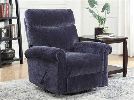 Barcalounger Basics Toni Sapphire Swivel Glider Recliner Chair