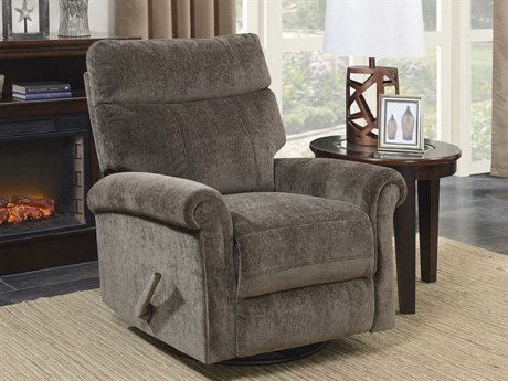 Barcalounger Basics Toni Brownstone Swivel Glider Recliner Chair