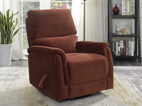 Barcalounger Basics Simon Empire Cinnabar Swivel Glider Recliner Chair