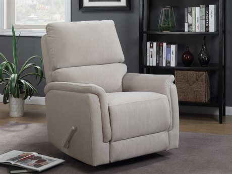 Barcalounger Basics Simon Empire Stone Swivel Glider Recliner Chair