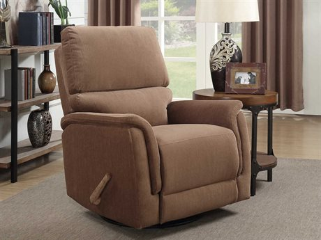 Barcalounger Basics Simon Empire Toffee Swivel Glider Recliner Chair