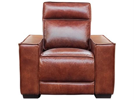 Barcalounger Casual Comfort Montrose Sherwood Tobacco Leather Power Recliner Chair