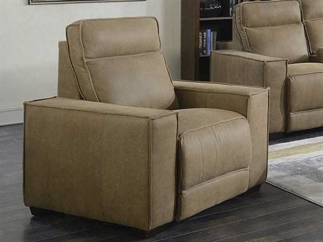 Barcalounger Casual Comfort Montrose Sanded Dark Bomber Leather Power Recliner Chair