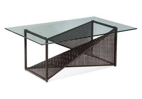Bassett Mirror Belgian Modern 30 x 50 Rectangular Weathered Steel Bolton Cocktail Table