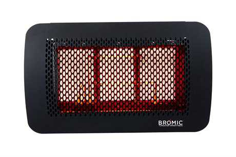 Bromic Heating Stainless Steel Tungsten Smart-Heat Gas 3 Burner Radiant Heater