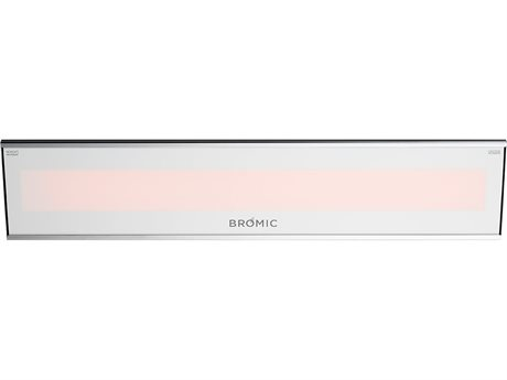 Bromic Heating Platinum Smart-Heat White 3400 Watts Electric Outdoor Heater PatioLiving