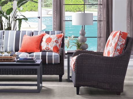 Braxton Culler Outdoor Tangier Wicker Cushion Lounge Set PatioLiving