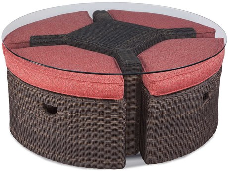 Braxton Culler Outdoor Tangier Sable Wicker Cushion Lounge Set PatioLiving