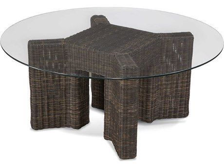 Braxton Culler Outdoor Tangier Sable 44'' Wide Wicker Round Coffee Table BCO404170