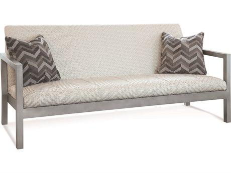 Braxton Culler Outdoor Larissa Greystone Aluminum Resin Cushion Sofa PatioLiving