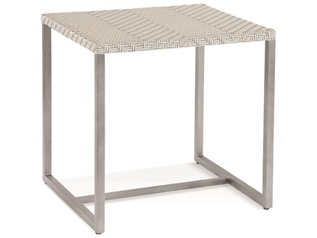 Braxton Culler Outdoor Larissa Greystone 20'' Wide Aluminum Recycled Plastic Square End Table BCO407071