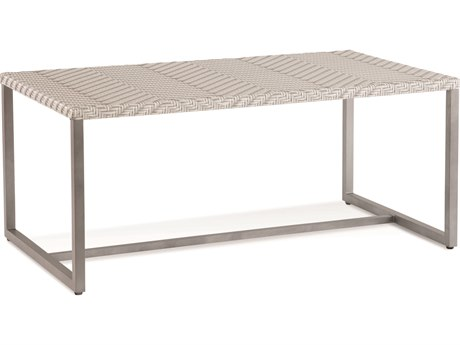 Braxton Culler Outdoor Larissa Greystojne 42'' Wide Aluminum Recycled Plastic Rectangular Coffee Table BCO407072