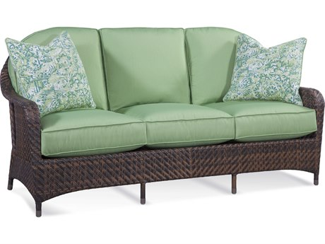 Braxton Culler Outdoor Belle Isle Coffee Wicker Cushion Sofa PatioLiving