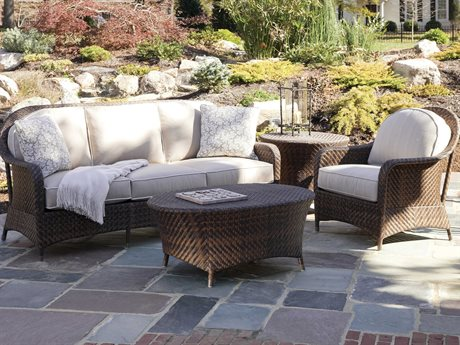 Braxton Culler Outdoor Belle Isle Wicker Cushion Lounge Set PatioLiving