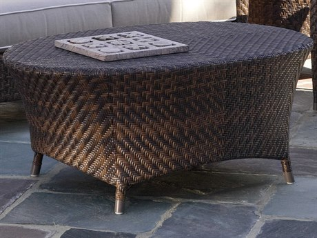 Braxton Culler Outdoor Belle Isle Coffee 42'' Wide Wicker Oval Table BCO410023