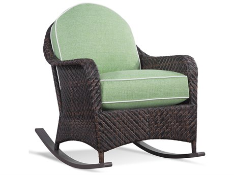Braxton Culler Outdoor Belle Isle Coffee Wicker Cushion Lounge Chair