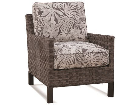 Braxton Culler Outdoor Luciano Granite Wicker Cushion Lounge Chair