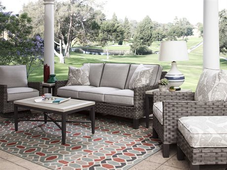 Braxton Culler Outdoor Luciano Wicker Cushion Lounge Set