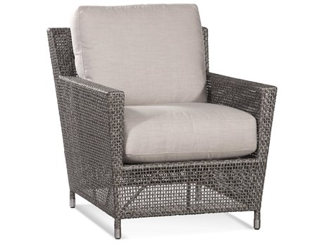 Braxton Culler Outdoor Edisto Pewter Wicker Cushion Lounge Chair PatioLiving