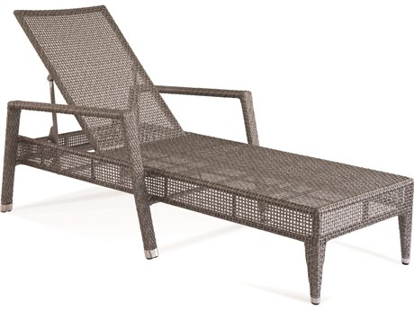 Braxton Culler Outdoor Edisto Pewter Wicker Chaise Lounge BCO416092