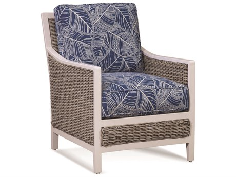 Braxton Culler Outdoor Molly Stonewash Wicker Cushion Lounge Chair
