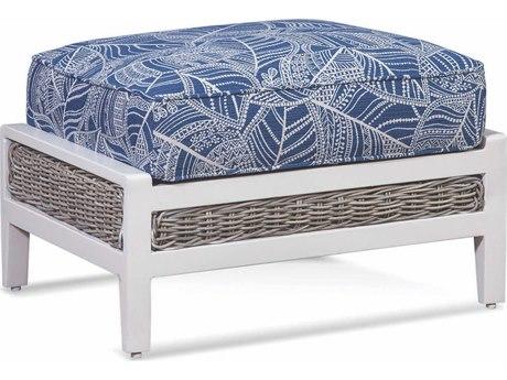 Braxton Culler Outdoor Molly Stonewash Wicker Cushion Ottoman PatioLiving